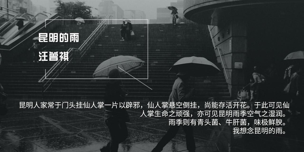 昆明的雨 ——汪曾祺